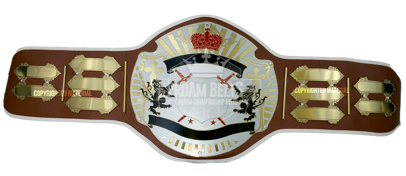 XXX Championship World Class Belt Titan-Brown-Front-Blank