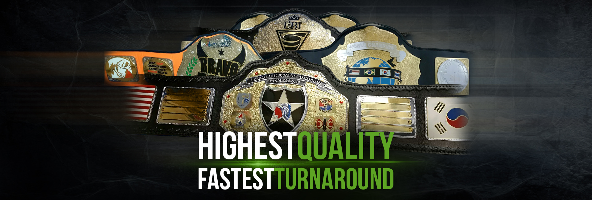 ProAmBelts offers the highest quality and fastest turnaround on all custom championship belts!