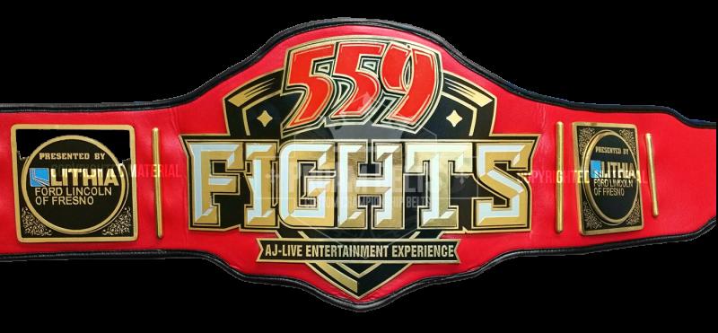 559 Fights Custom Championship Belt
