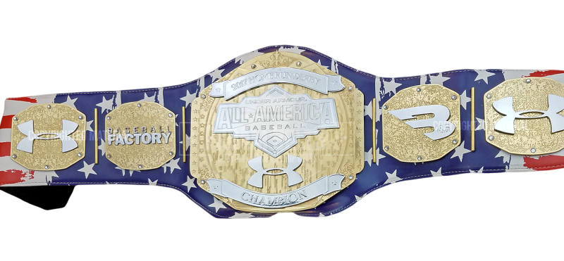 Under Armour All American Baseball 2017 All American MVP Blue Premier Custom Championship Title Belt