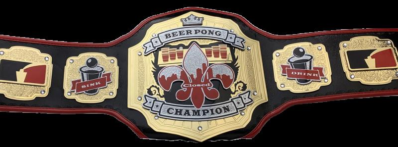 Closed Beer Pong Champion Custom Award