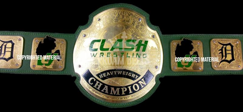 Clash Wrestling Custom Championship Title Belt