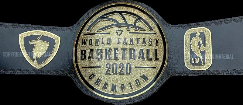 Fanduel NBA World Fantasy Basketball Champion 2020 Championship Belt