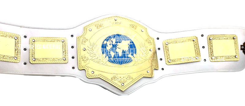 Global Domination White Championship Belt