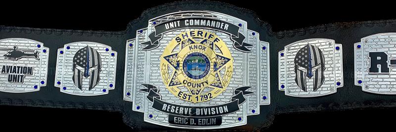 Knox County Sheriffs Unit Commander Reserve Division Championship Belt