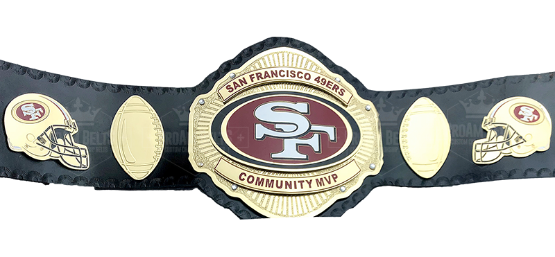 San Francisco 49ers Community MVP Championship Belt