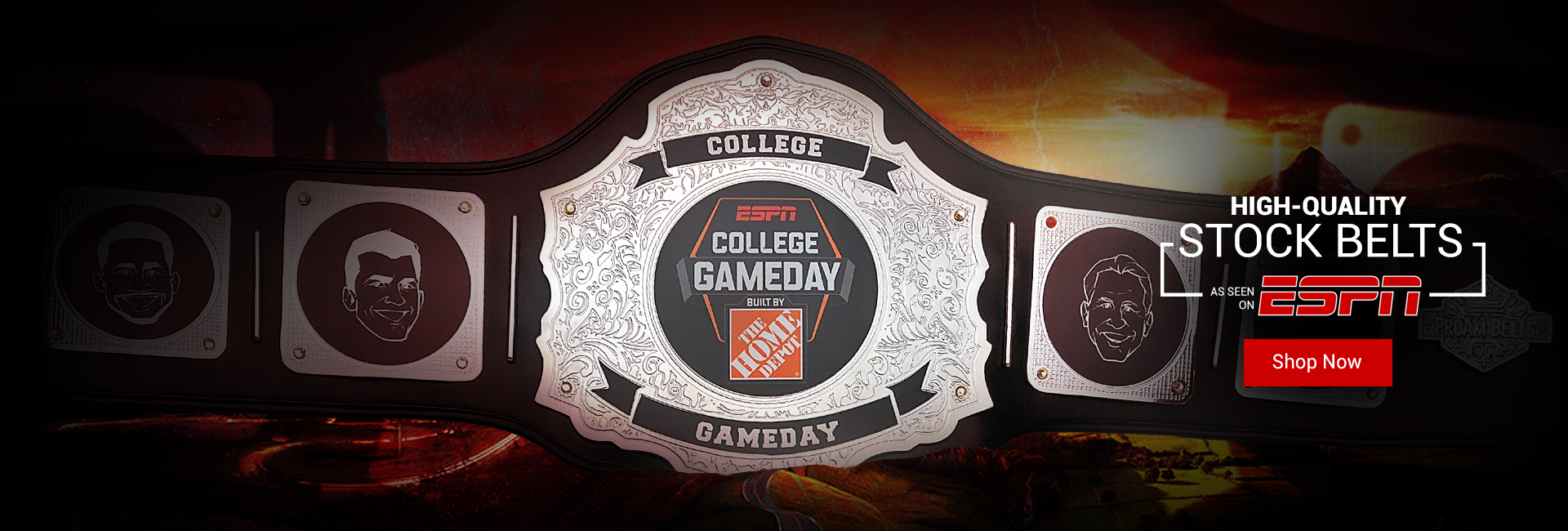 Stock Belts: As seen on ESPN