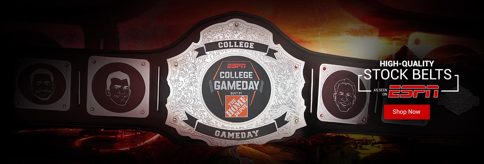 Stock Belts: As seen on ESPN