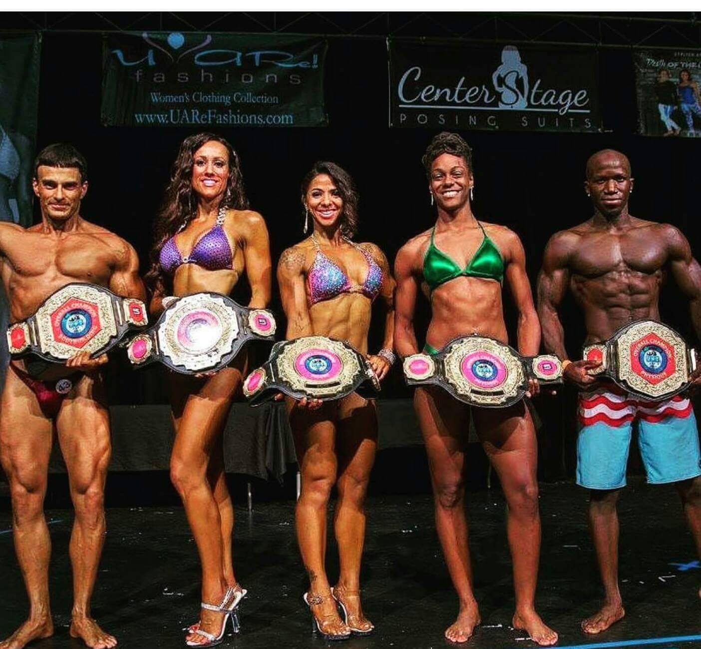 Strength, Conditioning, and Body Building Championship title belt awards