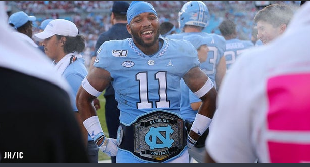 UNC football turnover belt