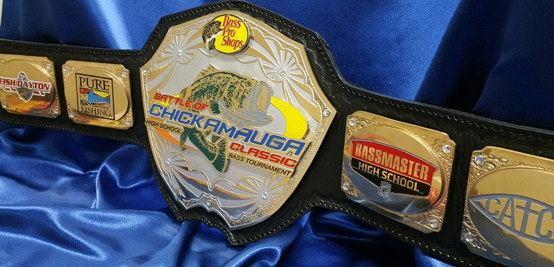 Custom Fishing Championship Title Award Belts