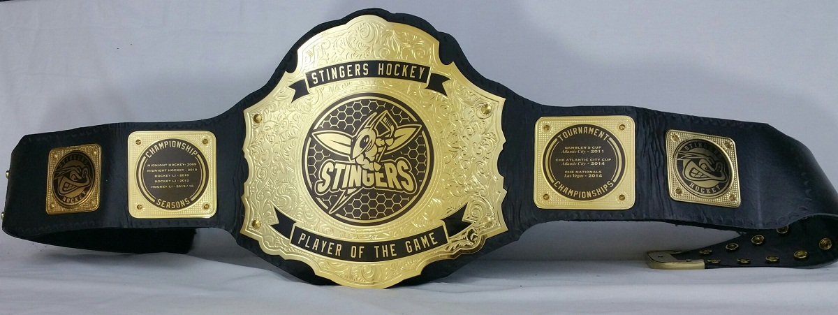 Custom Fantasy Hockey Championship Title Belts Are a Solid Cold Deal