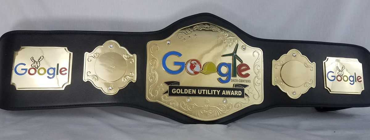 Google Sales and Customer Service Custom Championship Belts