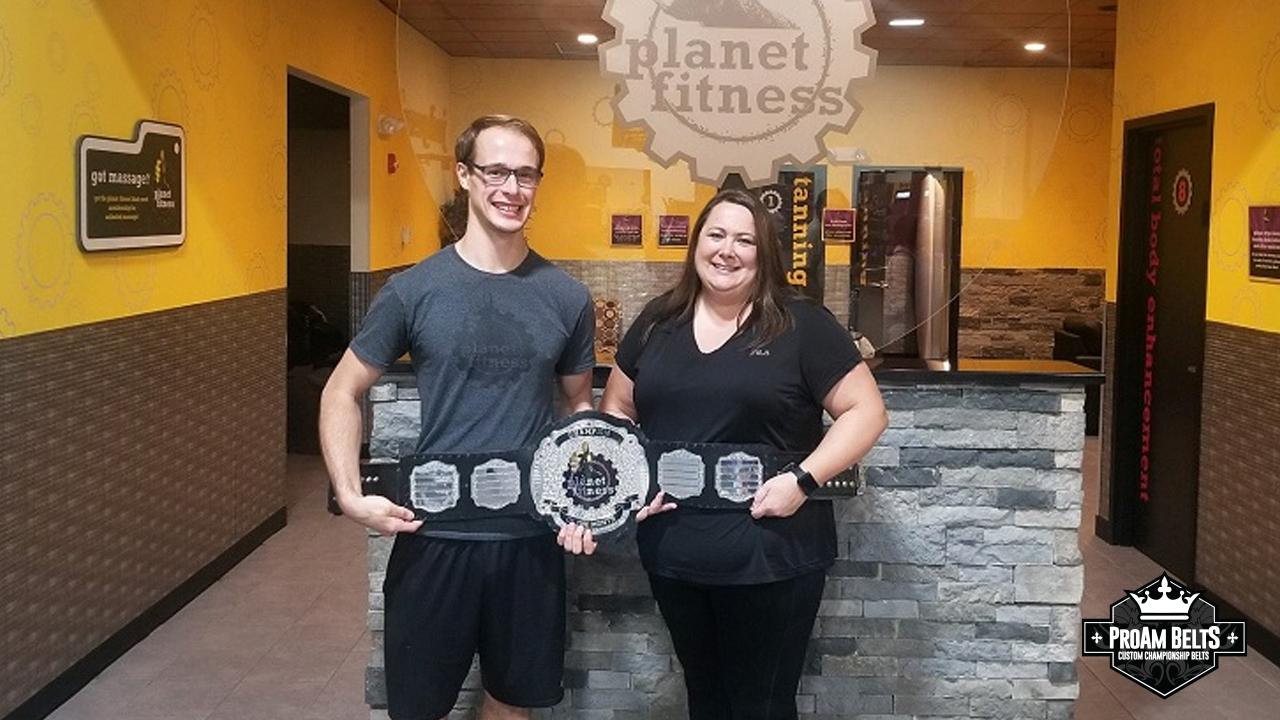 ProAmBelts and Planet Fitness Make Champion Award Belt