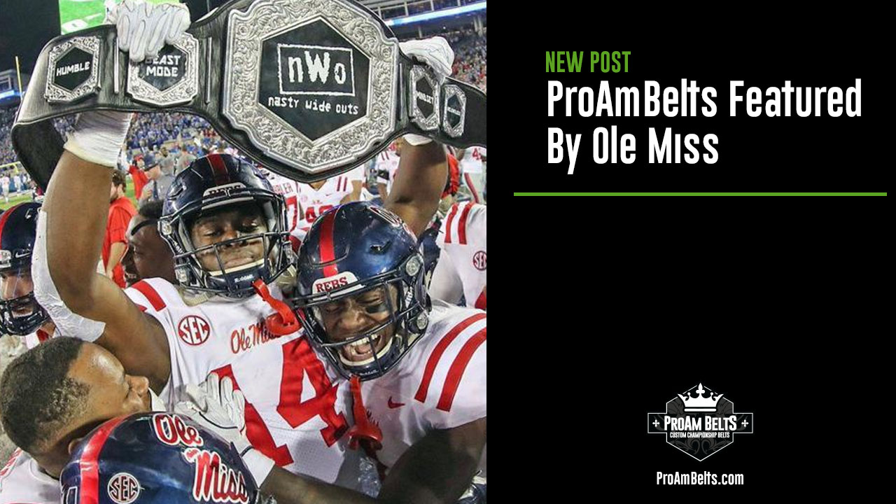 ProAmBelts Featured By Ole Miss
